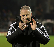 Fulham Manager Kit Symons  during the Sky Bet Championship match between Fulham and Brighton and Hove Albion at Craven Cottage, London, England on 29 December 2014. Photo by Phil Duncan.