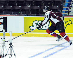 Austin Watson of the Peterborough Petes participates in Next Testing at the Home Hardware CHL Top Prospects Game in Windsor, ON on Tuesday. Photo by Aaron Bell/CHL