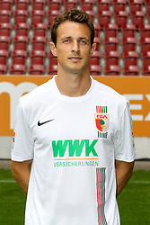 08.07.2015, WWK Arena, Augsburg, GER, 1. FBL, FC Augsburg, Fototermin, im Bild Christoph Janker #16 (FC Augsburg) // during the official Team and Portrait Photoshoot of German Bundesliga Club FC Augsburg at the WWK Arena in Augsburg, Germany on 2015/07/08. EXPA Pictures © 2015, PhotoCredit: EXPA/ Eibner-Pressefoto/ Kolbert<br /> <br /> *****ATTENTION - OUT of GER*****