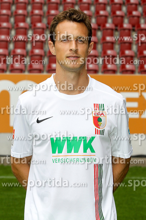 08.07.2015, WWK Arena, Augsburg, GER, 1. FBL, FC Augsburg, Fototermin, im Bild Christoph Janker #16 (FC Augsburg) // during the official Team and Portrait Photoshoot of German Bundesliga Club FC Augsburg at the WWK Arena in Augsburg, Germany on 2015/07/08. EXPA Pictures &copy; 2015, PhotoCredit: EXPA/ Eibner-Pressefoto/ Kolbert<br /> <br /> *****ATTENTION - OUT of GER*****