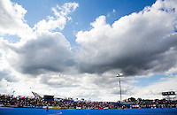 LONDON -  Unibet Eurohockey Championships 2015 in  London.  Belgium v France . clouds . WSP Copyright  KOEN SUYK