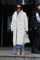 Alina Cho outside of the Carolina Herrera Fall/Winter 2019 Runway Show for New York Fashion Week, at the New York Historical Society across from Central Park in New York, New York, USA, 11 February 2019
