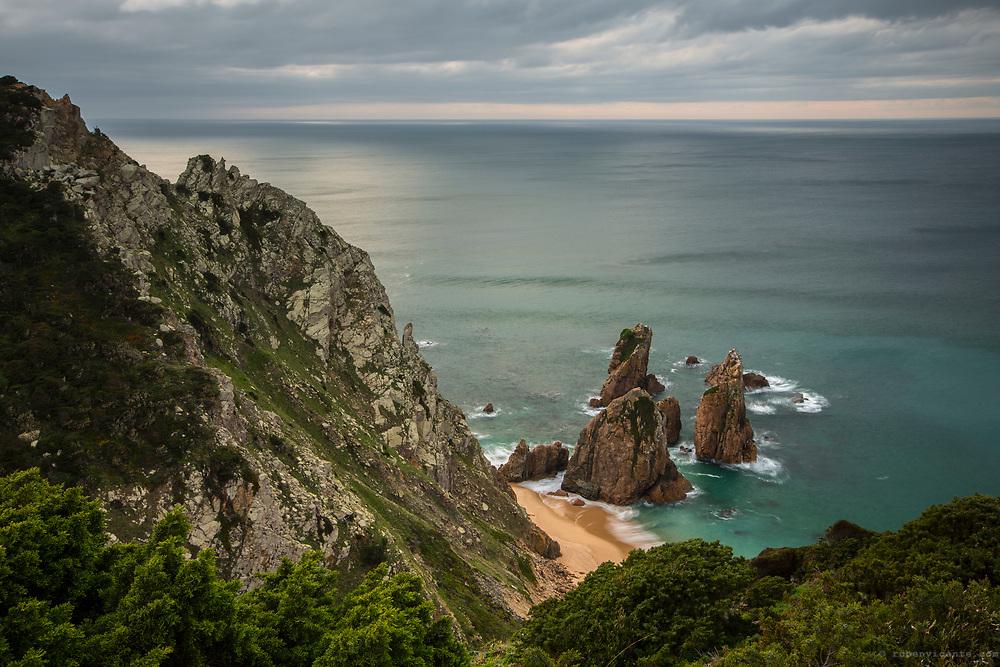Ursa beach from the cliffs. Sintra, Cascais