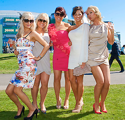 LIVERPOOL, ENGLAND - Friday, April 8, 2011: Racegoers enjoy Ladies Day, Day 2 of the 2011 Grand National meeting at Aintree Racecourse. (Photo by David Tickle/Propaganda)