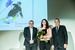Boro Strumbelj, Anja Drev and Damijan Lazar during Slovenian Disabled Sports personality of the year 2017 event, on December 6, 2017 in Austria Trend Hotel, Ljubljana, Slovenia. Photo by Vid Ponikvar / Sportida