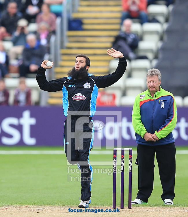 Moeen Ali of Worcestershire Rapids during the Natwest T20 Blast match at New Road, Worcester<br /> Picture by Michael Whitefoot/Focus Images Ltd 07969 898192<br /> 30/05/2014
