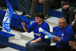 Fans of Salonit at last final volleyball match of 1.DOL Radenska Classic between OK ACH Volley and Salonit Anhovo, on April 21, 2009, in Arena SGS Radovljica, Slovenia. ACH Volley won the match 3:0 and became Slovenian Champion. (Photo by Vid Ponikvar / Sportida)