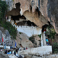 Tham Ting Opening of Pak Ou Caves in Ban Pak Ou, Laos<br />