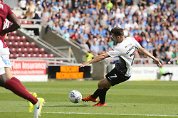 Gwion Edwards of Peterborough United scores the opening goal of the game - Mandatory by-line: Joe Dent/JMP - 26/08/2017 - FOOTBALL - Sixfields Stadium - Northampton, England - Northampton Town v Peterborough United - Sky Bet League One