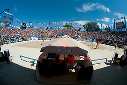 Beach Volleyball arena at A1 Beach Volleyball Grand Slam tournament of Swatch FIVB World Tour 2010, final, on July 31, 2010 in Klagenfurt, Austria. (Photo by Matic Klansek Velej / Sportida)