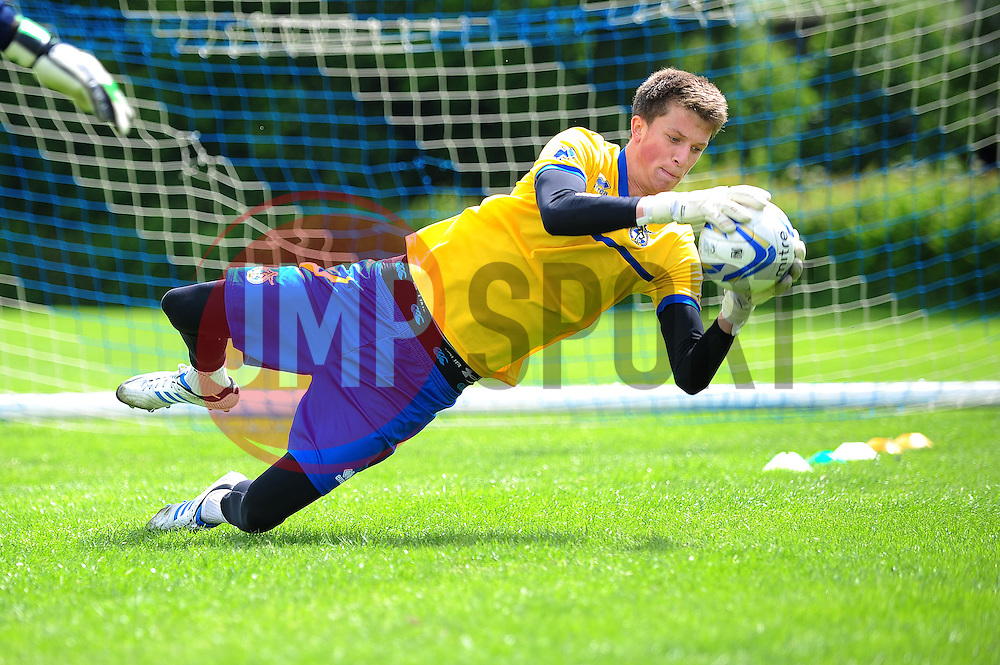 Bristol Rovers' goalkeeper, Matt Macey - Photo mandatory by-line: Dougie Allward/JMP - Tel: Mobile: 07966 386802 24/06/2013 - SPORT - FOOTBALL - Bristol -  Bristol Rovers - Pre Season Training - Npower League Two