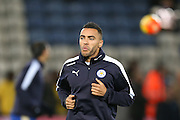 Leicester City defender Danny Simpson  during the Barclays Premier League match between Leicester City and Manchester City at the King Power Stadium, Leicester, England on 29 December 2015. Photo by Simon Davies.