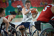 Helen Freeman for Great Britain vs Canada in the Group A Preliminary Womens Wheelchair basketball at the Rio Olympic Arena.  Rio 2016 Paralympic Games. Thursday 8th September 2016
