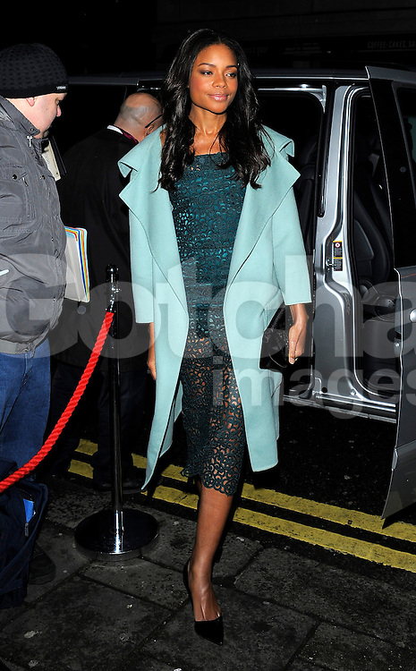 Naomie Harris attends Harvey Weinstein's pre-BAFTA dinner at Little House restaurant in London, UK. 14/02/2014<br />BYLINE MUST READ : GOTCHAIMAGES.COM<br /><br />Copyright by &copy; Gotcha Images Ltd. All rights reserved.<br />Usage of this image is conditional upon the acceptance <br />of Gotcha Images Ltd, terms and conditions available at<br />www.gotchaimages.com
