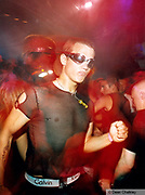 Clubber wearing Calvin Klein underwear Ibiza 1999