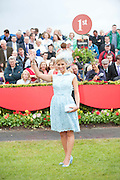 Rachelle Guiry, winner of Anthony Ryans Best Dressed Lady Competition will receive a magnificent prize of a one carat diamond solitaire pendant valued at €8,500, a shopping spree worth €1500 in Anthony Ryans, Galway and €1000 cash. She will also receive a Lancôme Presentation Gift Hamper worth over €600 and corporate hospitality package for Galway Races October Bank Holiday Racing Festival.Photo:Andrew Downes
