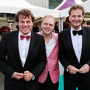 NLD/Amsterdam/20130601- Amsterdam diner 2013, Patrick Mikkelsen, Frits Huffnagel en Joop Wijn