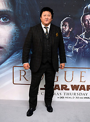 Benedict Wong attending a special screening of Rogue One: A Star Wars Story at the BFI IMAX, London.