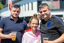 Fans pose for a photo prior to kick off - Ryan Hiscott/JMP - 07/07/2018 - FOOTBALL - Ashton Gate - Bristol, England - Sweden v England, World Cup Quarter Final, World Cup Village at Ashton Gate
