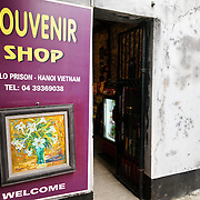 The prison souvenir shop. Hoa Lo Prison, also known sarcastically as the Hanoi Hilton during the Vietnam War, was originally a French colonial prison for political prisoners and then a North Vietnamese prison for prisoners of war. It is especially famous for being the jail used for American pilots shot down during the Vietnam War.