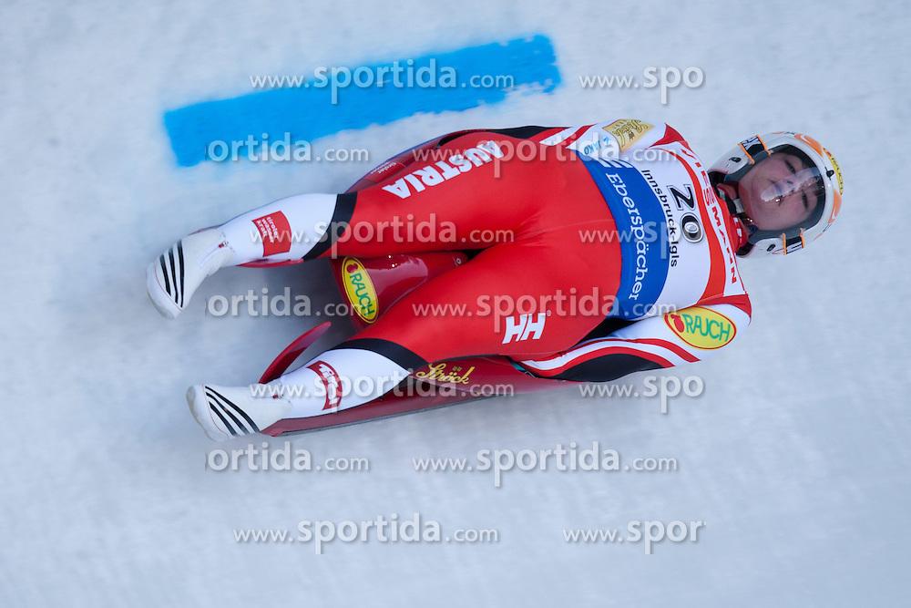 26.11.2011, Eiskanal, Igls, AUT, Viessmann Rennrodel Weltcup, Innsbruck, Damen 1. Durchgang, im Bild Nina Reithmayer (AUT) // Nina Reithmayer of Austria during 1st run at Viessmann Luge World Cup at Olympic ice canal, Innsbruck Igls, Austria on 2011/11/26.EXPA Pictures © 2011, PhotoCredit: EXPA/ Johann Groder