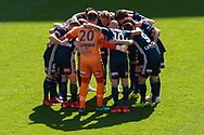 MELBOURNE, VIC - JANUARY 20: Victory team huddle before the match during the Hyundai A-League Round 14 soccer match between Melbourne Victory and Wellington Phoenix at AAMI Park in VIC, Australia on 20th January 2019. Image by (Speed Media/Icon Sportswire)