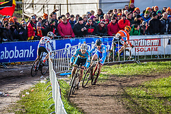 Sven NYS (1,BEL) & Zdenek STYBAR (40,CZE) leading. 3rd lap at Men UCI CX World Championships - Hoogerheide, The Netherlands - 2nd February 2014 - Photo by Pim Nijland / Peloton Photos