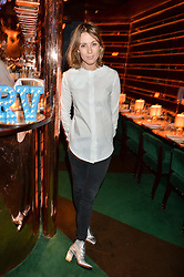 CAROLINE LEVER at a dinner hosted by Roger Vivier to celebrate The Prismick Denim by Camillle Seydoux held at Casa Cruz, 123 Clarendon Road, London on 17th March 2016.