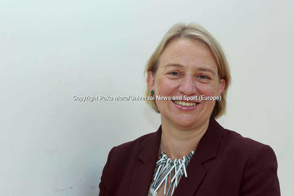 A portrait of Green Leader Natalie Bennett.<br /> Green Leader in England Campaigns for Scottish Independence. Natalie Bennett, who leads the Greens in England and Wales join Scottish convener Patrick Harvie a head of the independence referendum at Out of the Blue Drill Hall in Edinburgh.<br /> Pako Mera/Universal News And Sport (Europe) 02/09/2014