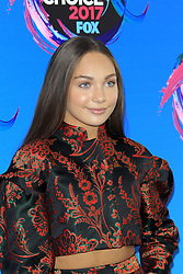 August 13, 2017 - Los Angeles, CA, USA - LOS ANGELES - AUG 13:  Maddie Ziegler at the Teen Choice Awards 2017 at the Galen Center on August 13, 2017 in Los Angeles, CA (Credit Image: © Kay Blake via ZUMA Wire)