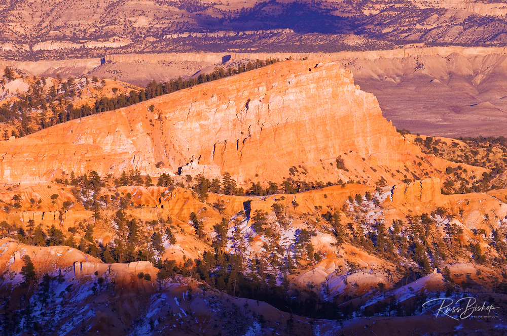 Evening light on the Sinking Ship formation, Bryce Canyon National Park, Utah