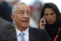 May 3, 2018 - Estoril, Estoril, Portugal - Portuguese President of Republic Professor Marcelo Rebelo de Sousa attends ATP World Tour's Millennium Estoril Open 2018 during the match between Roberto Carballes Baena from Spain and Cameron Norrie from Gilbratar for Millennium Estoril Open 2018 at Clube de Tenis do Estoril on May 03, 2018 in Estoril, Portugal. (Credit Image: © Dpi/NurPhoto via ZUMA Press)