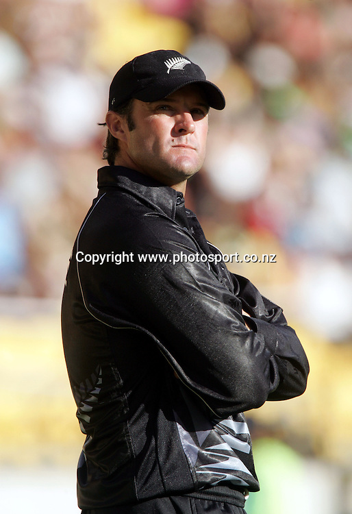 Nathan Astle during the 1st ODI cricket match between the West Indies and the New Zealand Black Caps at Westpac Stadium, Wellington, New Zealand, Saturday, February 18 2006. New Zealand won the match by 81 runs. Photo: Hannah Johnston/PHOTOSPORT<br />