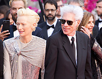 Tilda Swinton, Director Jim Jarmusch, Sara Driver at the Opening Ceremony and The Dead Don't Die gala screening at the 72nd Cannes Film Festival Tuesday 14th May 2019, Cannes, France. Photo credit: Doreen Kennedy