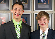 DoDEA Students Robert DeWitt (left) and Ryan McDonnell (right) visited the Pentagon on Friday March 11, 2011 as part of a delegation of students from The U.S., DoDEA Schools and the District of Columbia taking part in the 49th annual United States Senate Youth Program.