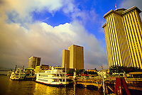 Riverboats, Riverwalk, Mississippi River, New Orleans, Louisiana USA