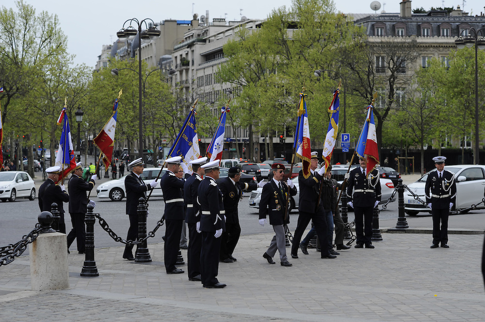 Air Force Ceremony at the Arc de Triomphe, Paris, France