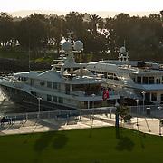Yachts on Marina in San Diego Harbor.