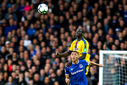 Mamadou Sakho of Crystal Palace beats Richarlison of Everton in the air - Mandatory by-line: Robbie Stephenson/JMP - 21/10/2018 - FOOTBALL - Goodison Park - Liverpool, England - Everton v Crystal Palace - Premier League
