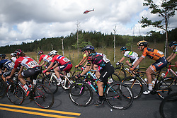 Alexis Ryan (USA) of CANYON//SRAM Racing rides mid-pack on Stage 3 of the Ladies Tour of Norway - a 156.6 km road race, between Svinesund (SE) and Halden on August 20, 2017, in Ostfold, Norway. (Photo by Balint Hamvas/Velofocus.com)