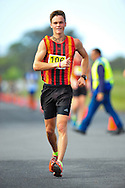CAPE TOWN, SOUTH AFRICA - OCTOBER 10: Pierre Vermaak of CGA wins the Youth Boys 10km race during the South African Race Walking Championship at Youngsfield Military Base on October 10, 2015 in Cape Town, South Africa. (Photo by Roger Sedres/ImageSA)