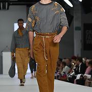 Designer Hannah Gibbins the Best of Graduate Fashion Week showcases at the Graduate Fashion Week 2018, June 6 2018 at Truman Brewery, London, UK.