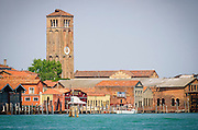 Clocktower and docks, Murano, Veneto, Italy
