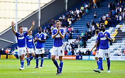 Ipswich players celebrate after the final whistle - Mandatory byline: Matt McNulty/JMP - 07966386802 - 22/08/2015 - FOOTBALL - Deepdale -Preston,England - Preston North End v Ipswich Town - Sky Bet Championship