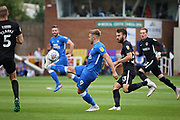 Peterborough United forward Matt Godden (9) controls the ball during the EFL Sky Bet League 1 match between Peterborough United and Portsmouth at London Road, Peterborough, England on 15 September 2018.