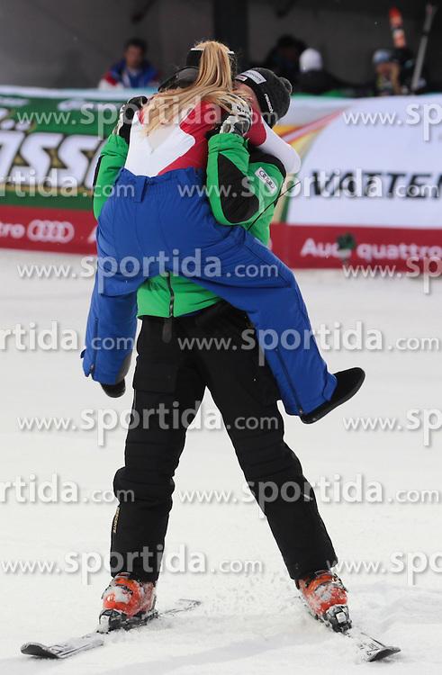 05.02.2013, Planai, Schladming, AUT, FIS Weltmeisterschaften Ski Alpin, Suber G, Damen, Siegerpraesentation, im Bild Lara Gut (SUI, 2. Platz) // 2nd place Lara Gut of Switzerland on Winners Presentation during ladies SuperG at the FIS Ski World Championships 2013 at the Planai Course, Schladming, Austria on 2013/02/05. EXPA Pictures © 2013, PhotoCredit: EXPA/ Sammy Minkoff