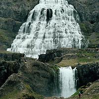 Fjallfoss, Dynjandi, Au&eth;k&uacute;luhreppur, Arnarfj&ouml;r&eth;ur  /  <br /> Fjallfoss, Dynjandi, Audkuluhreppur, Arnarfjordur.  -  After county merger new name: &Iacute;safjar&eth;arb&aelig;r /  Isafjardarbaer.
