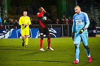 Deception Baidy DIA / Stephane RUFFIER - 03.03.2015 - Boulogne / Saint Etienne - 1/4Finale Coupe de France<br />Photo : Dave Winter / Icon Sport