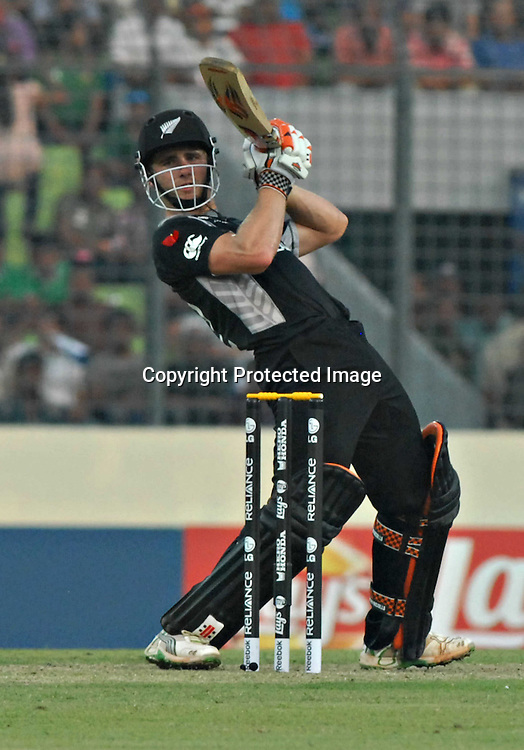 Kane Williamson of New Zealand during the ICC Cricket World Cup quarter final match between South Africa and New Zealand held at the Shere Bangla National Stadium, Mirpur, Bangladesh on the 25 March 2011..Photo by SPORTZPICS