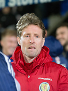 10th November 2017, McDiarmid Park, Perth, Scotland, UEFA Under-21 European Championships Qualifier, Scotland versus Latvia; Scotland under 21s head coach Scot Gemmill